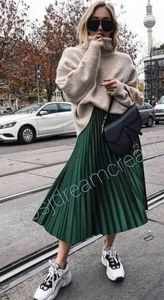 NWT Bloggers Fav. ZARA Emerald Pleated Midi Skirt